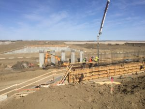 Bridge 30 east abutment pour 09-May-2017