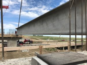 Bridge 31 - NU Girder Installation 20-June-2017 close up