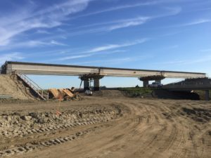 Bridge 31 at Highway 11 - all girders installed