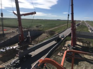 Bridge 31 - double pick setup for NU girders - east span
