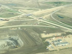 Aerial shots of the Pinkie Road Bypass - photos provided by Derek Maier.