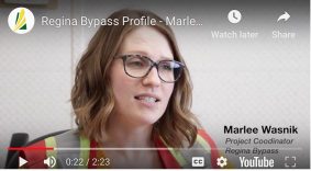 University of Regina graduate Marlee Wasnik discusses her role on building the Regina Bypass, Saskatchewan's largest transportation project.