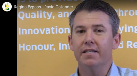Meet David Callander - one of the original  Regina Bypass team members.