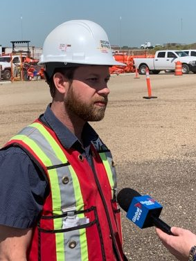 Justin Churko provides Global Tv with a Bypass Construction Update