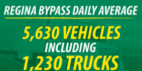Regina Bypass had a busy first month.