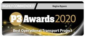 Regina Bypass wins prestigious P3 Award - 2020